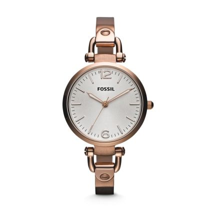 Georgia Three Hand Stainless Steel Watch - Rose