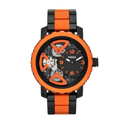 Nate Multifunction Silicone Watch – Black and Red