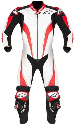 Alpinestars Race Replica Leather Suit - White/Red