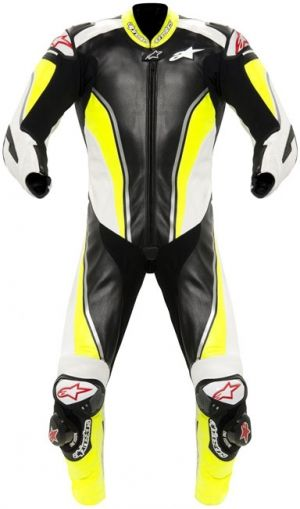 Alpinestars Race Replica Leather Suit - Hi-Viz Yellow/Black/White