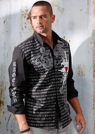 Allover print shirt