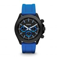 Retro Traveler Chronograph Silicone Watch - Blue