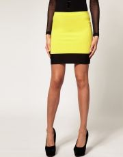 Mini Skirt with Mesh Hem
